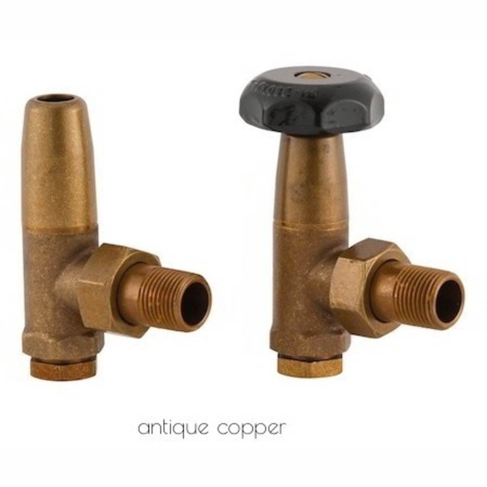 Arroll Manual radiator valve set 'School' UK-5