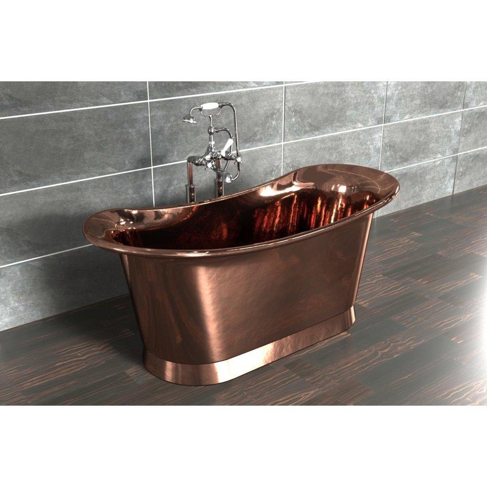 William Holland Freestanding copper bath Bateau, finish copper/copper