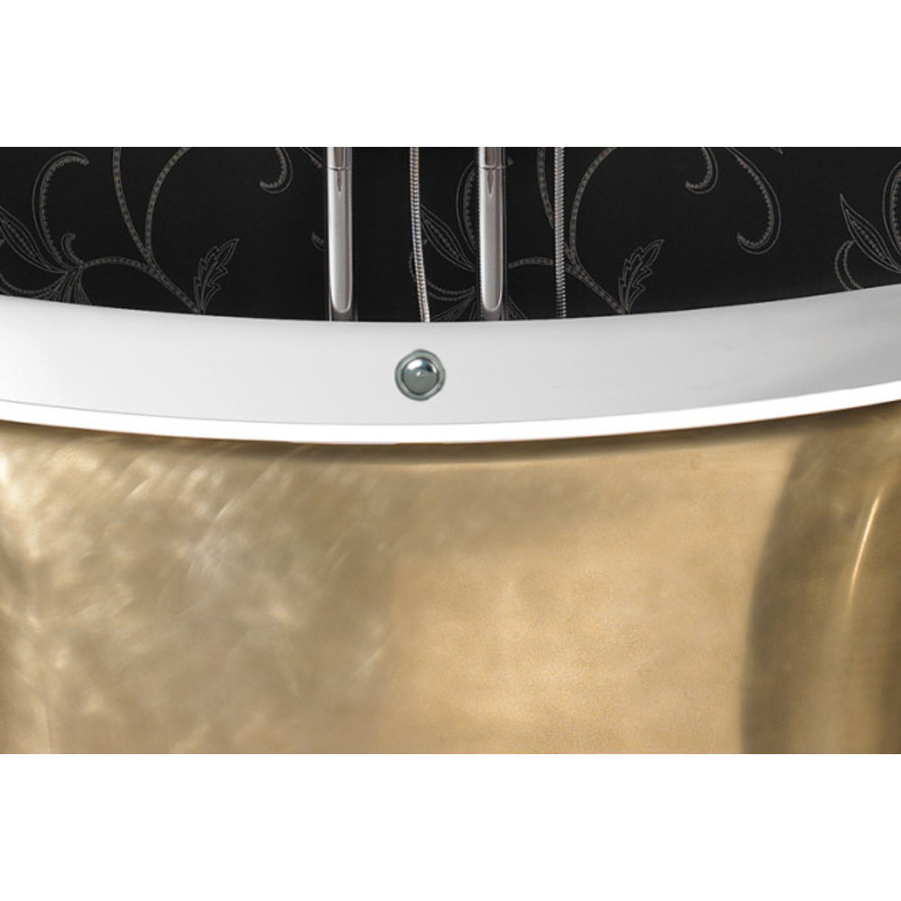 Ashton & Bentley A&B freestanding bath Grand Aegean 1800 Metallic BG - gloss brass