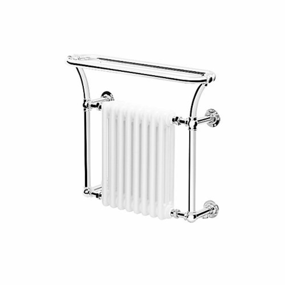 Bard & Brazier B&B Traditional towel rail with white column inset Florian FLW70/80R