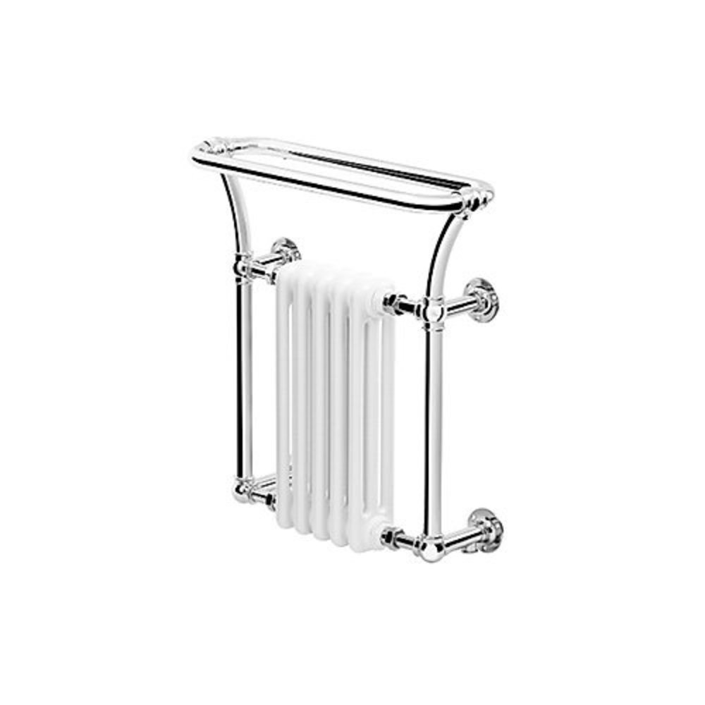 Bard & Brazier B&B Traditional towel rail with white column inset Florian FLW70/66R