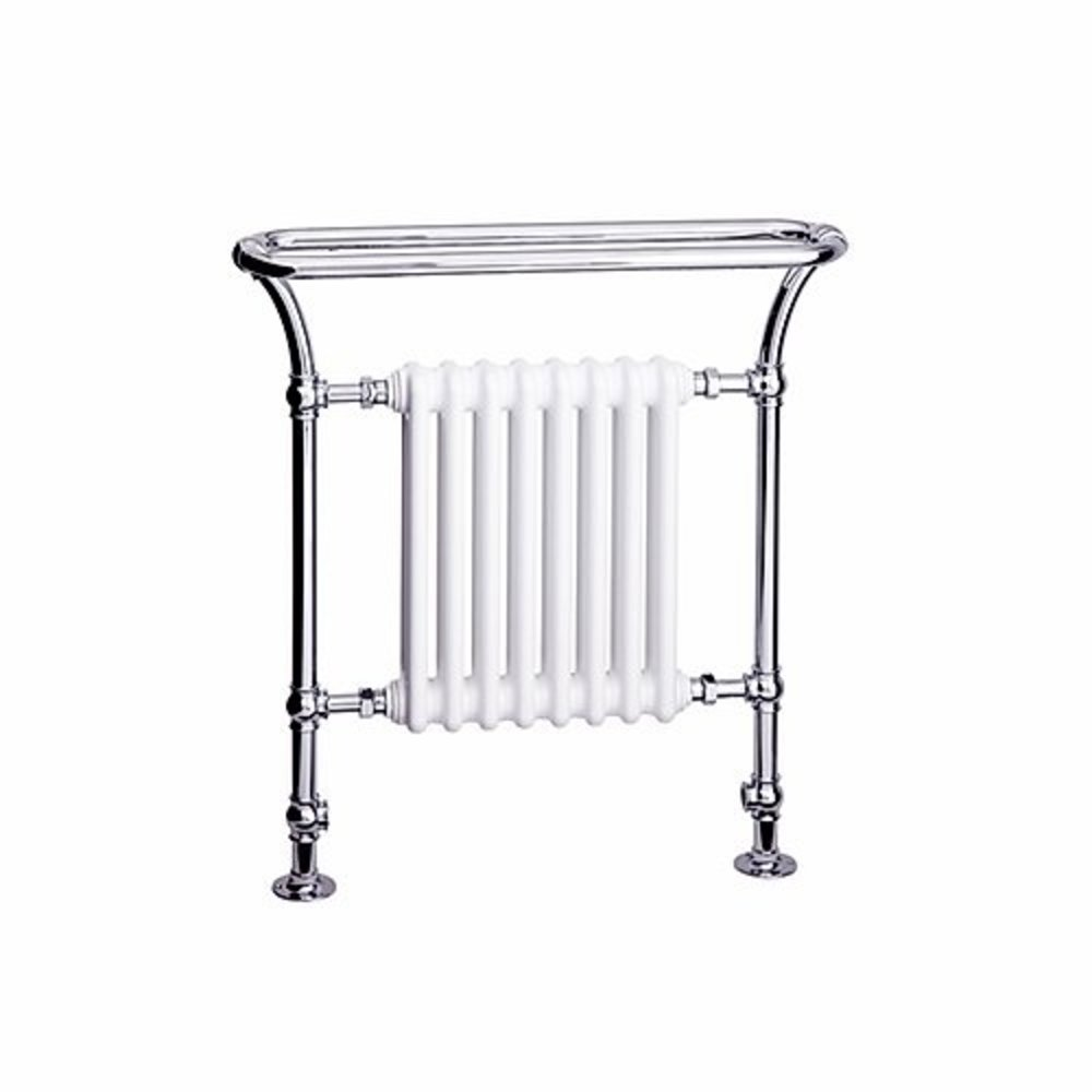 Bard & Brazier B&B Traditional towel rail with white column inset Florian FLF90/80R