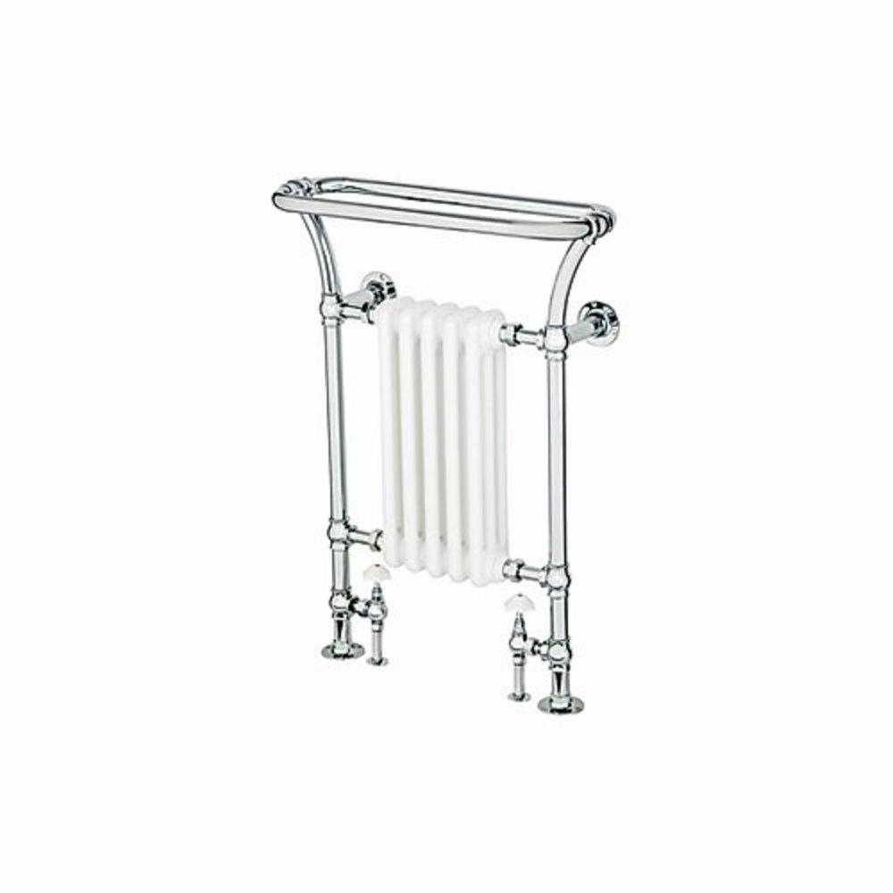 Bard & Brazier B&B Traditional towel rail with white column inset Florian FLF90/66R