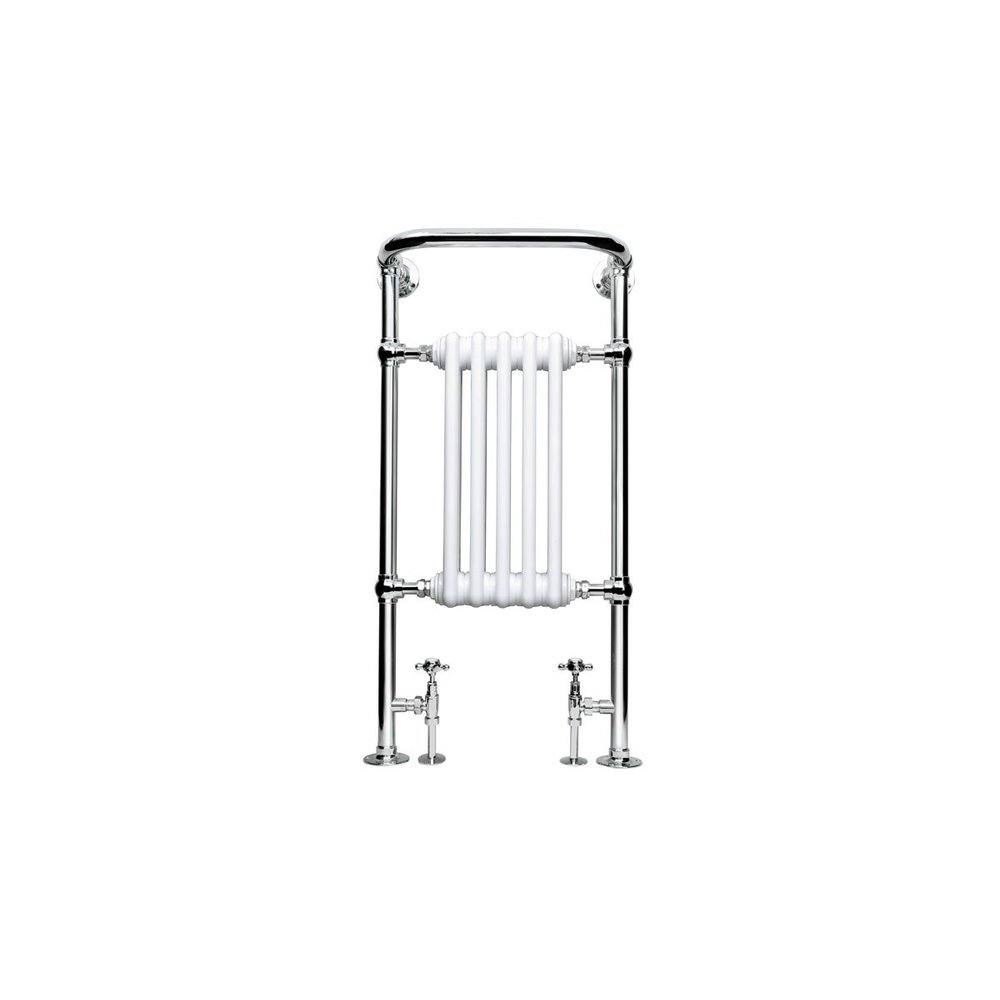 Imperial IMP Klassieke handdoekradiator met witte leden Malmo 5 bar