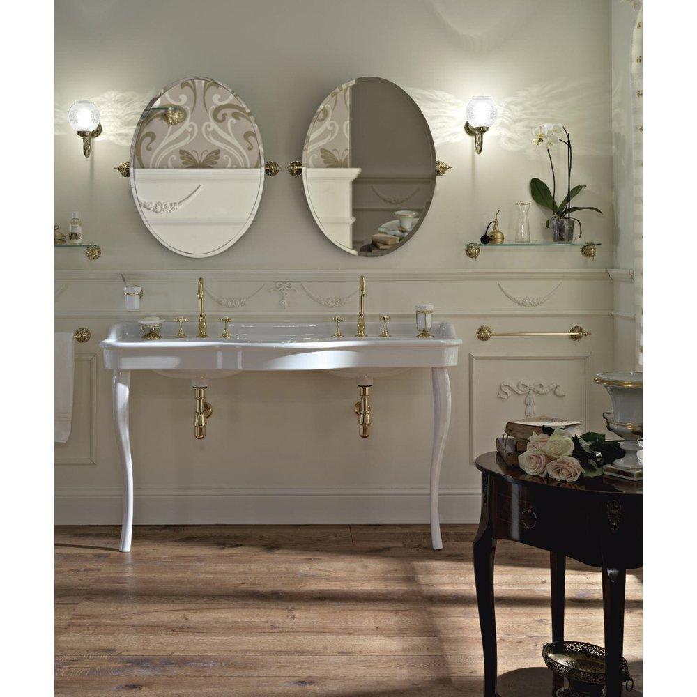 Sbordoni Klassieke dubbele wastafel SB Palladio 150cm  met porseleinen poten