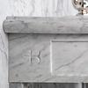 Lefroy Brooks Marble LB Russborough Carrara marmer console wastafel LB-6331WH