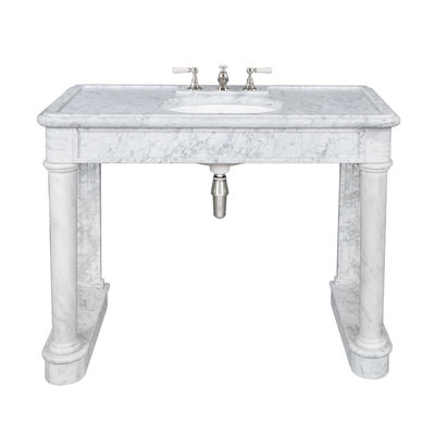 Russborough carrara marble console LB6331WH