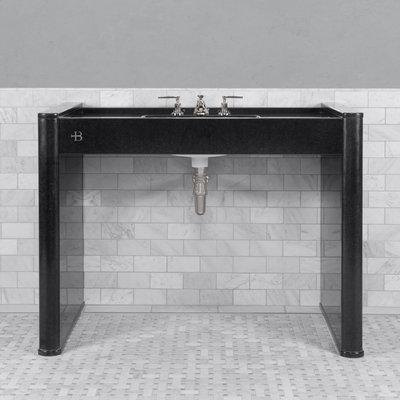 Piano Black polished granite console LB6342BK