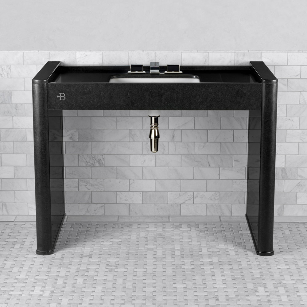 Lefroy Brooks Marble LB Piano Black single polished granite console LB-6342BK