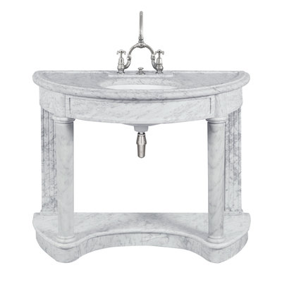 Demi Lune carrara marble console LB6330WH