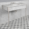 Lefroy Brooks Marble LB Edwardian single carrara marble console with legs LB-6334WH