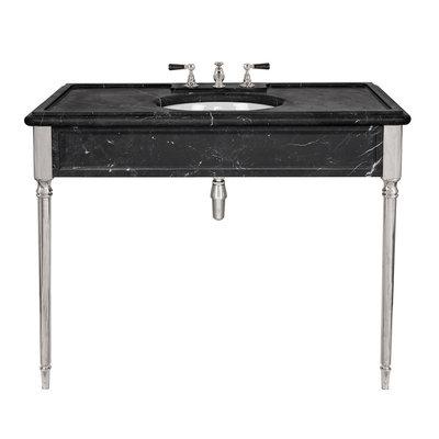 Edwardian zwarte marmeren console LB6334BK