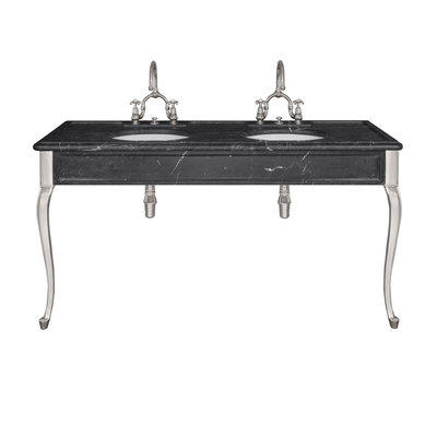 La Chapelle black marble console LB6435BK