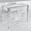 Lefroy Brooks Marble LB Mackintosh Carrara marmer console wastafel met Deco poten LB-6343WH