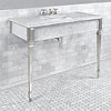 Lefroy Brooks Marble LB Mackintosh single carrara marble console with square deco legs LB-6343WH