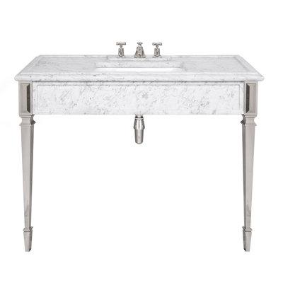 Mackintosh carrara marble console LB6343WH