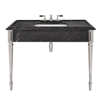 Mackintosh black marble console LB6343BK