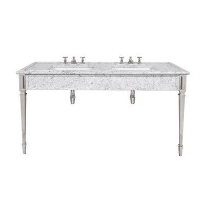 Mackintosh carrara marble console LB6443WH