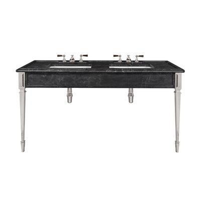 Mackintosh Marmor-Konsolenwaschtisch schwarz LB6443BK
