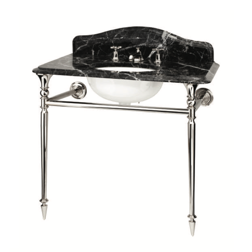 Bard & Brazier B&B Hepburn single Marquina marble console with stand