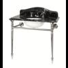 Bard & Brazier B&B Hepburn Single Grigio Carnico marmer console wastafel met onderstel