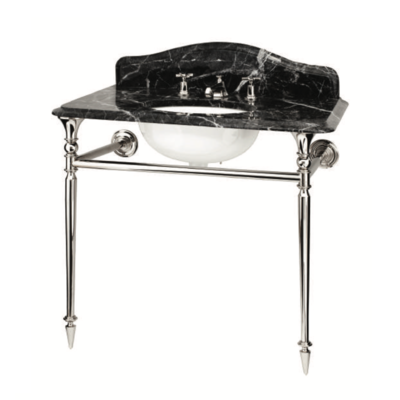 Hepburn Single Grigio Carnico marble console