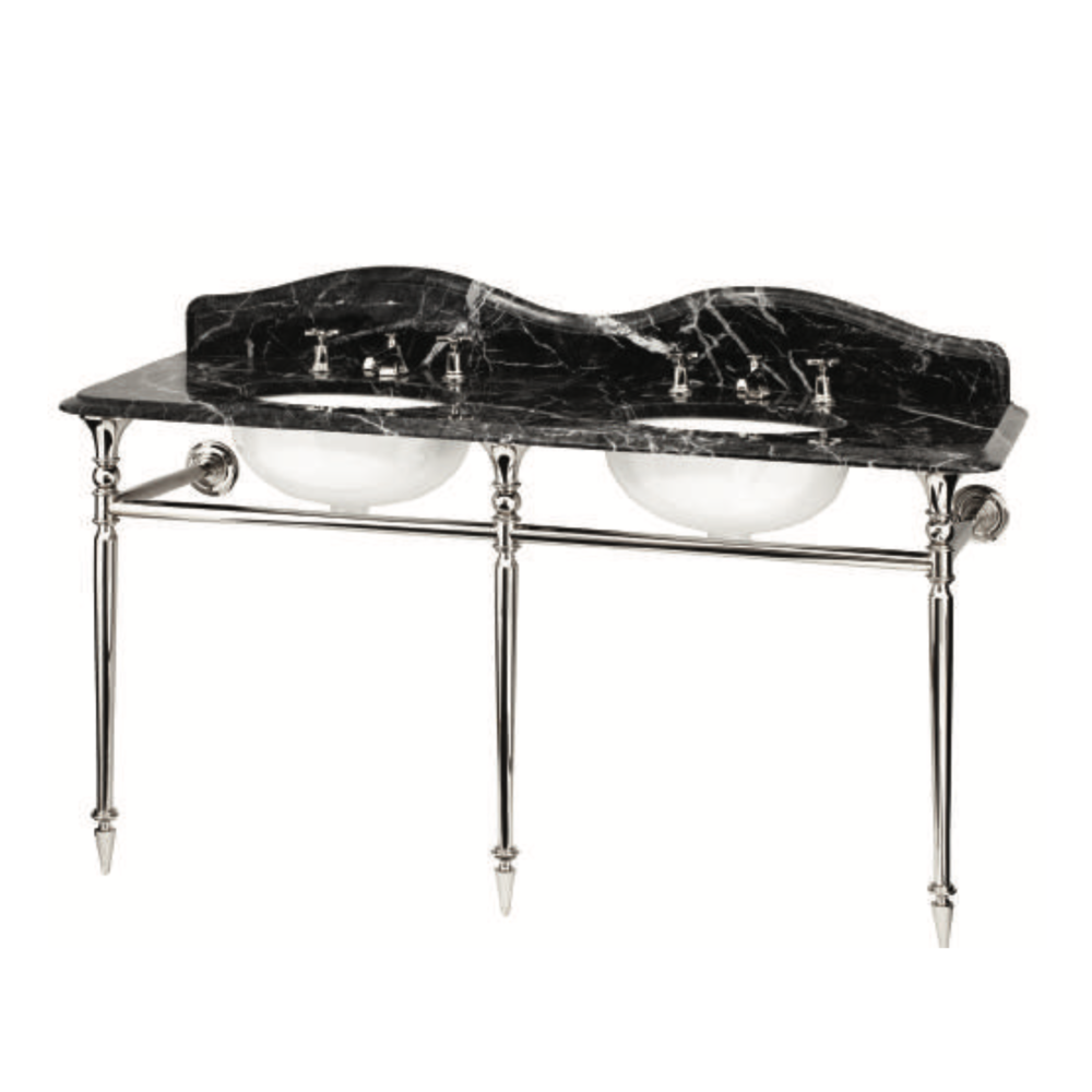 Bard & Brazier B&B Hepburn Double Marquina marble console with stand