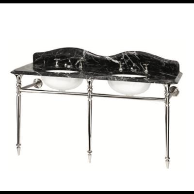 Hepburn Double Marquina Marmor-Konsolenwaschtisch