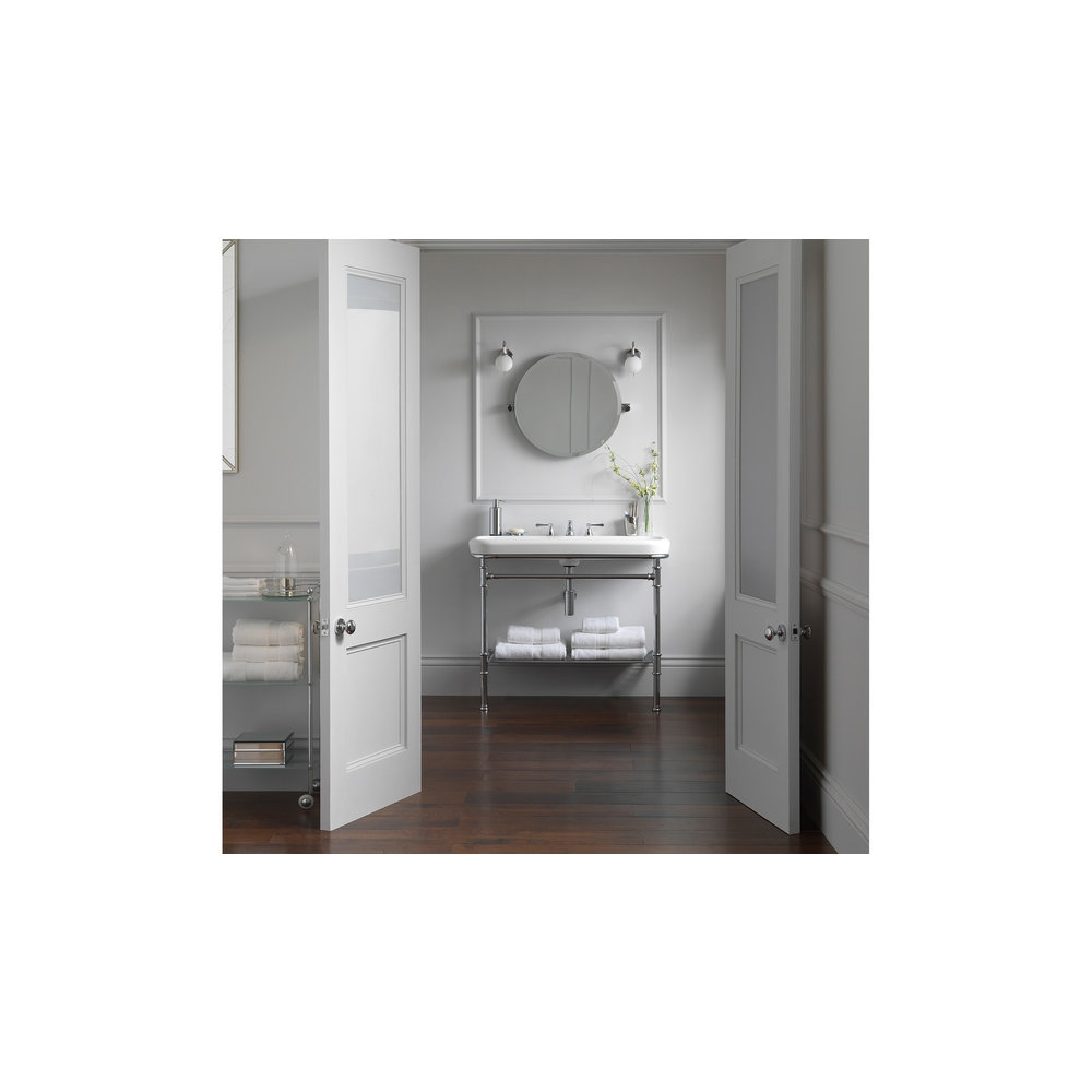 Victoria + Albert V+A Metallo 100 basin & washstand with chrome legs MET-100