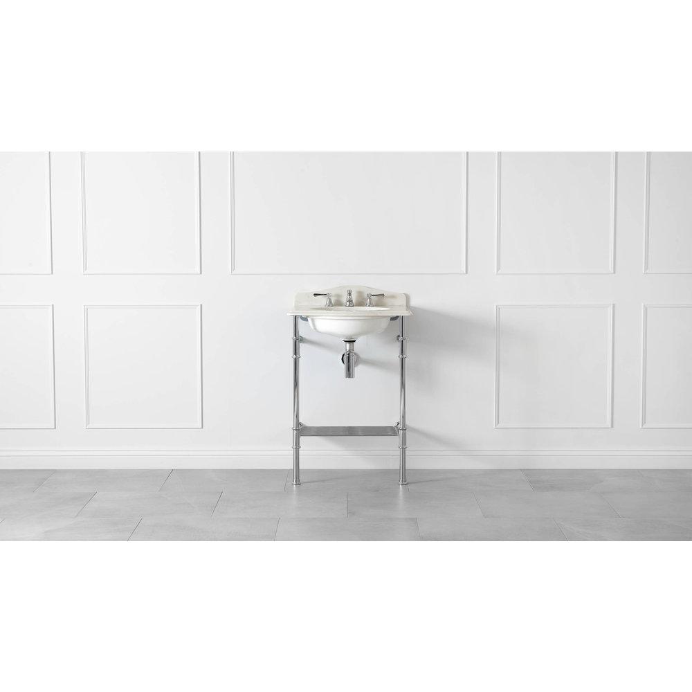 Victoria + Albert V+A Metallo 61 Quartz washstand with undermount basin MET-61-Q-PC