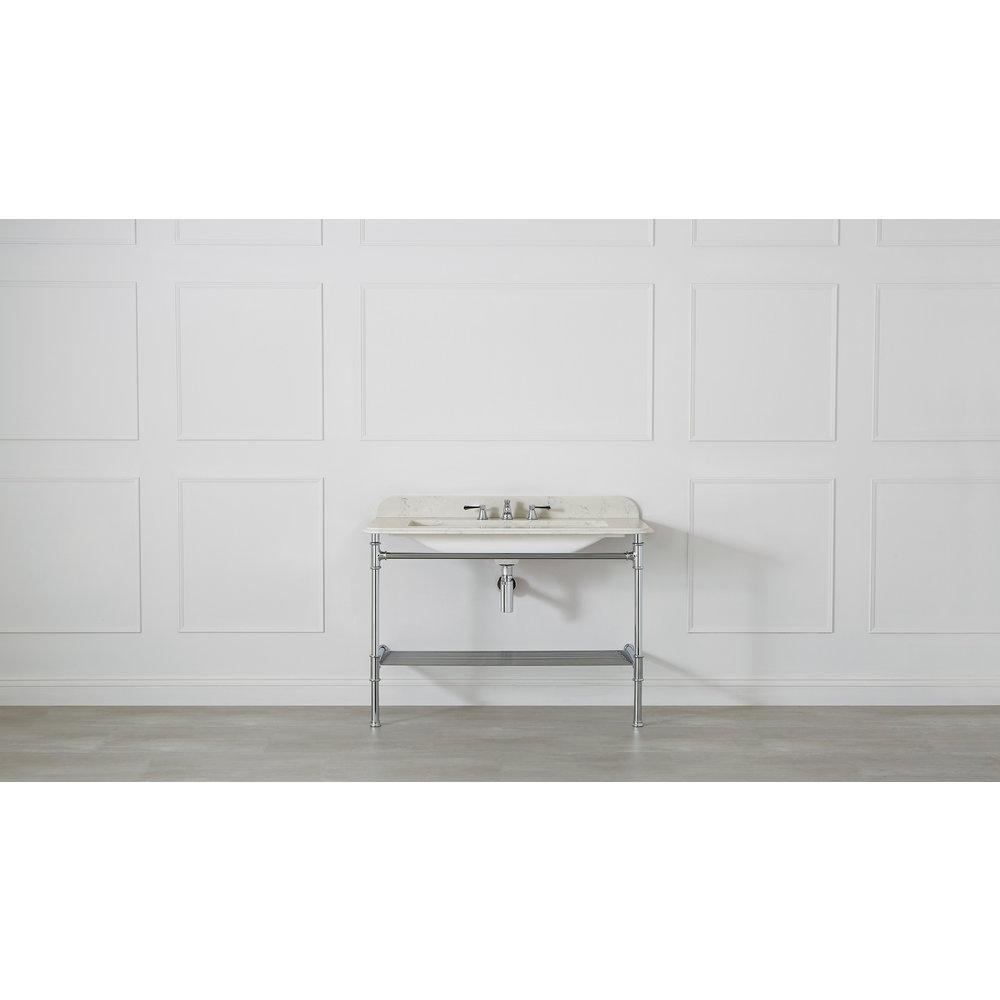 Victoria + Albert V+A Metallo 113 Quartz washstand with undermount basin MET-113-Q-PC