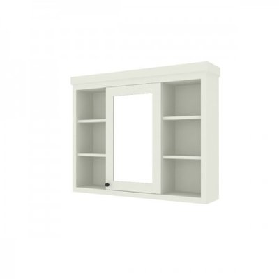 Shaker mirror cabinet with shelves 120