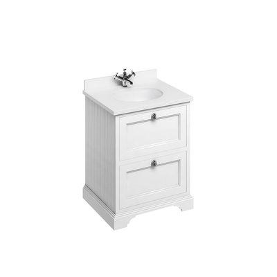 Klassischer Waschschrank Minerva weiss FF9-BW66