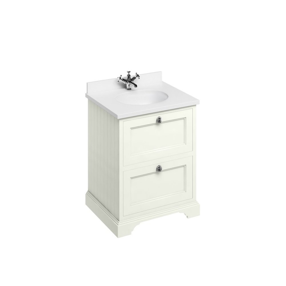 BB Edwardian 65 basin unit with Carrara white Minerva top and basin FF9-BC66