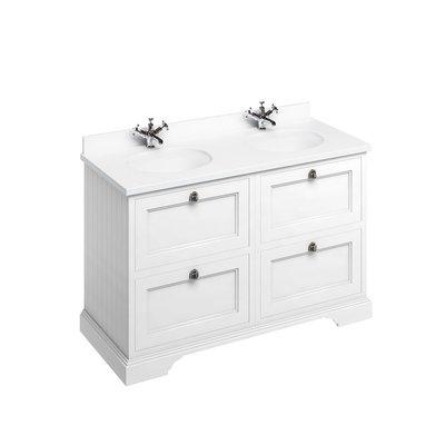 Klassischer Waschschrank Minerva weiss FC10-BW12