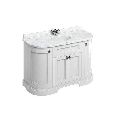 Classical basin unit Minerva Carrara white FC1-BC13