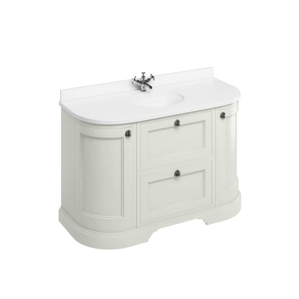 BB Edwardian 134 basin unit with white Minerva top and basin FC4-BW13
