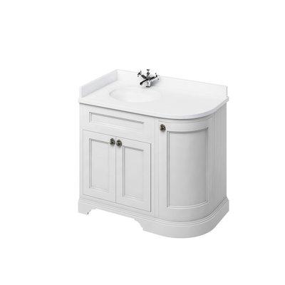Klassischer Waschschrank Minerva weiss FC2-BW98L