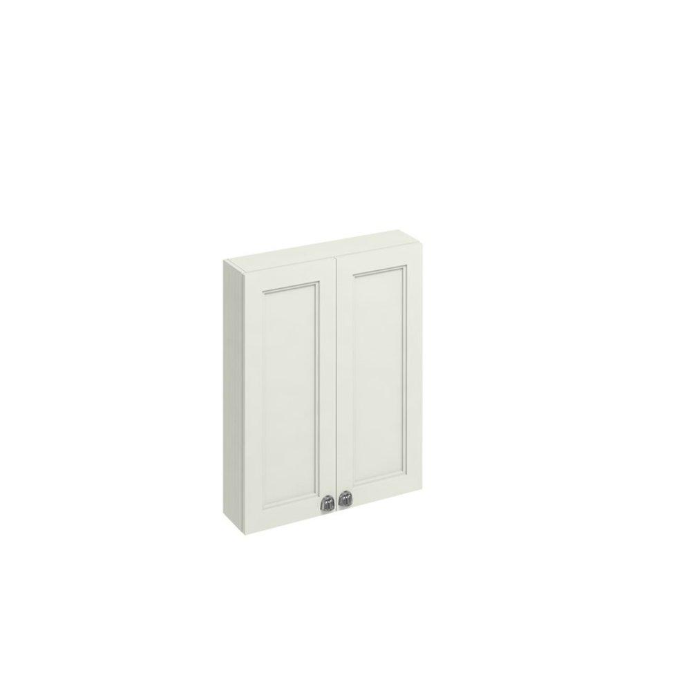 BB Edwardian 60cm wall unit with soft close doors and glass shelf F6W