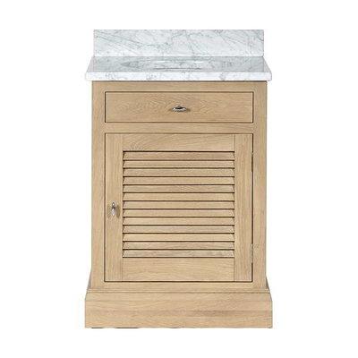 Oak wash stand with door Edinburgh 640