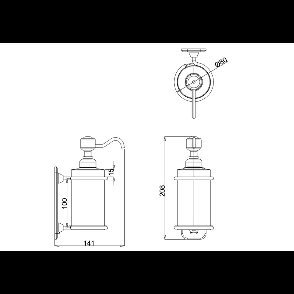 BB Edwardian Edwardian wand zeepdispenser wit porselein