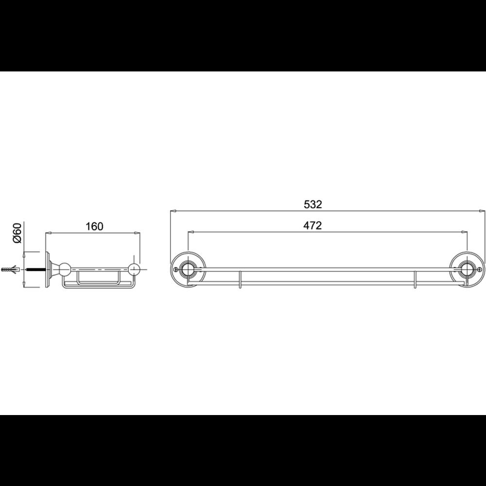 BB Edwardian Edwardian Shelf with railing