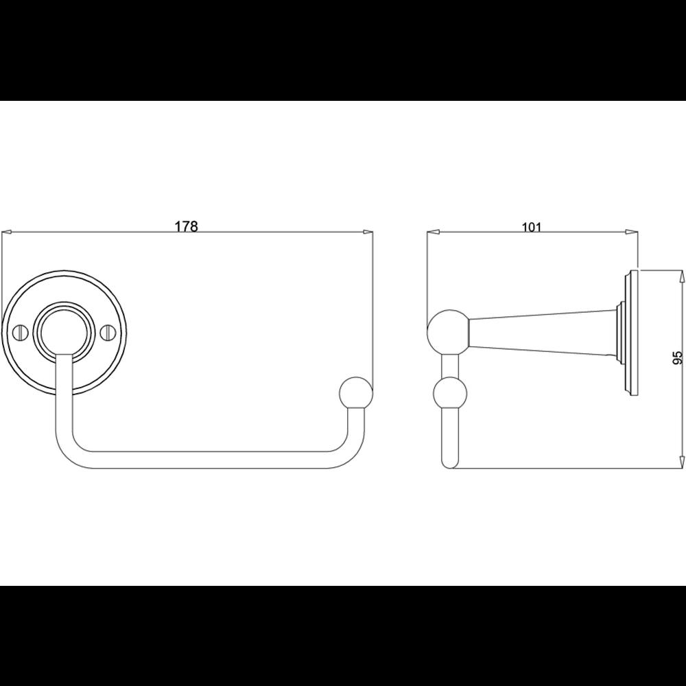 BB Edwardian Edwardian toiletrolhouder zonder klep