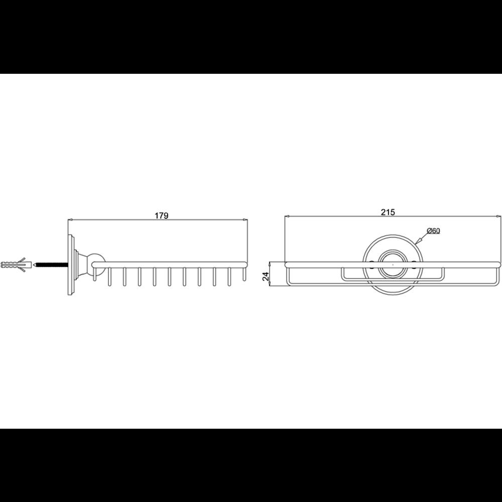 BB Edwardian Edwardian draadmand voor spons, wandbevestiging