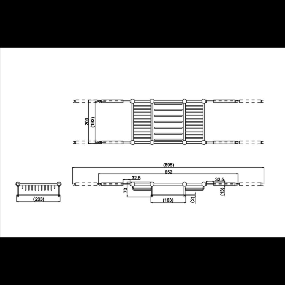 BB Arcade Arcade badrek, verstelbaar 652-895mm