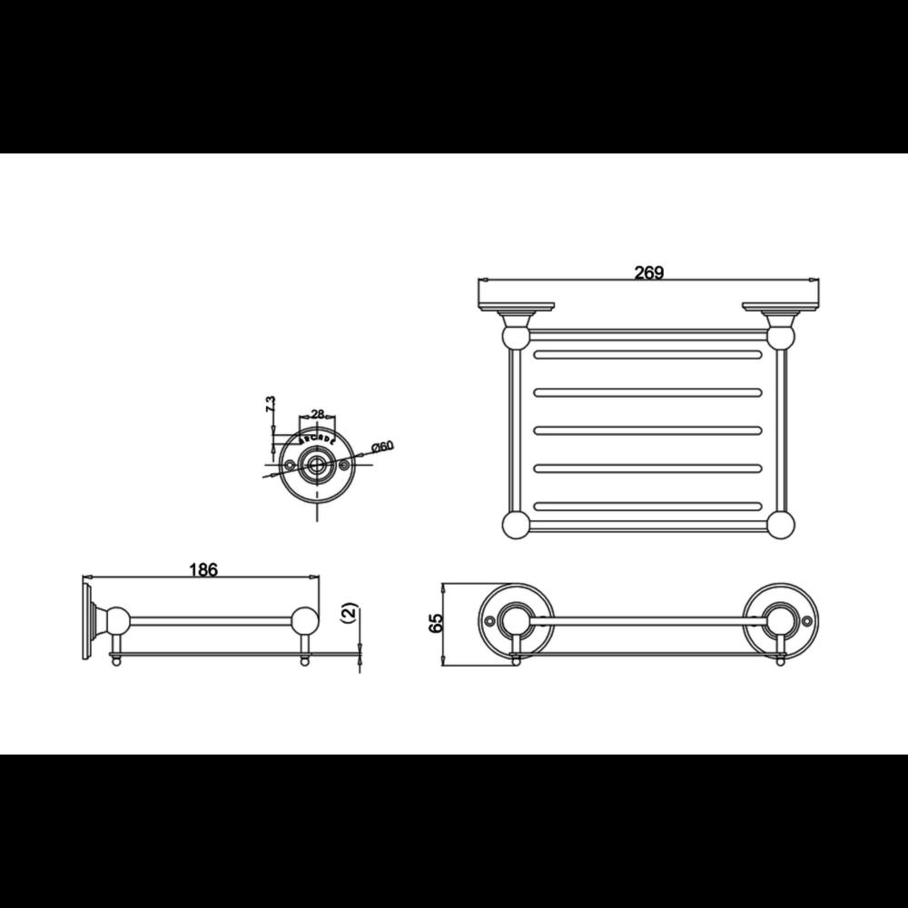 BB Arcade Arcade draadmand voor spons, wandbevestiging