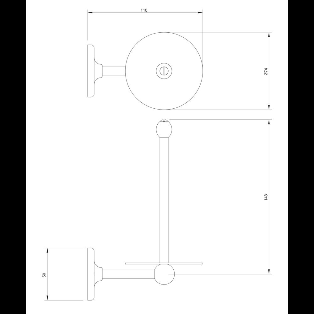 Lefroy Brooks 1900 Classic LB1900 Classic White Reserve Toiletrolhouder LB-4501