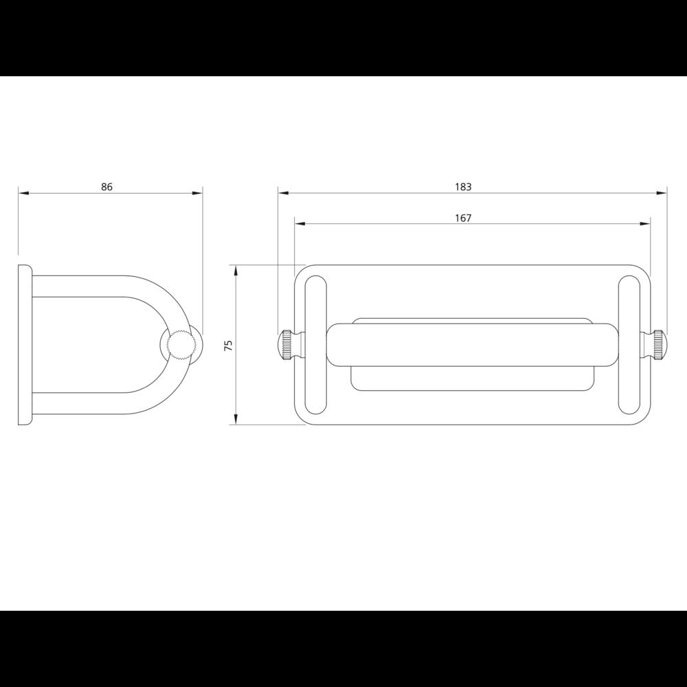 Lefroy Brooks 1900 Classic LB1900 Classic White toiletrolhouder met wit porseleinen bar LB-4500