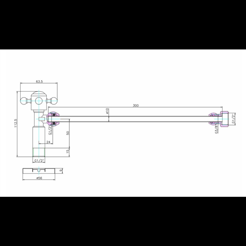 Burlington Burlington shut off valve W25