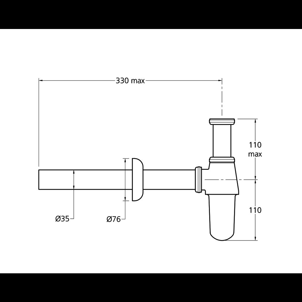 Lefroy Brooks LB basin bottle trap LB-1302